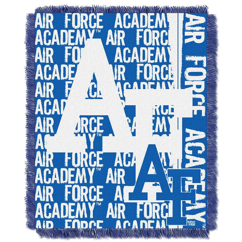 "Air Force Falcons Ncaa Triple Woven Jacquard Throw (double Play Series) (48""x60"")"