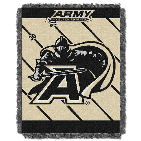"Army Black Knights Ncaa Triple Woven Jacquard Throw (fullback Baby Series) (36""x48"")"