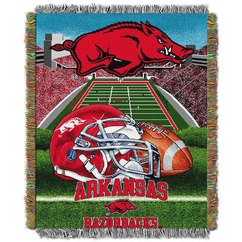 "Arkansas Razorbacks Ncaa Woven Tapestry Throw (home Field Advantage) (48""x60"")"