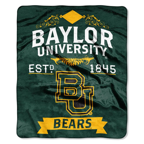 "Baylor Bears Ncaa Royal Plush Raschel Blanket (label Series) (50""x60"")"