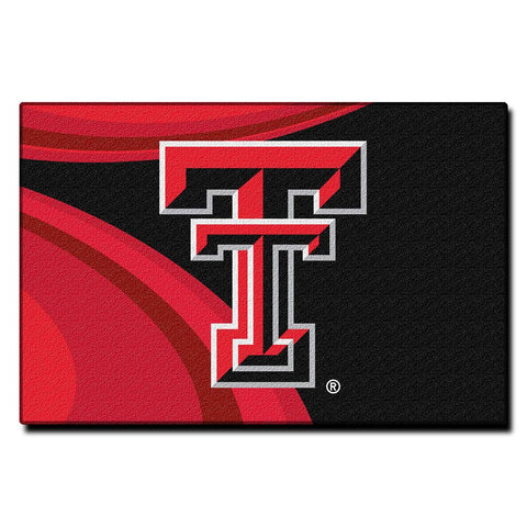 "Texas Tech Red Raiders Ncaa Tufted Rug (cosmic Series) (59""x39"")"