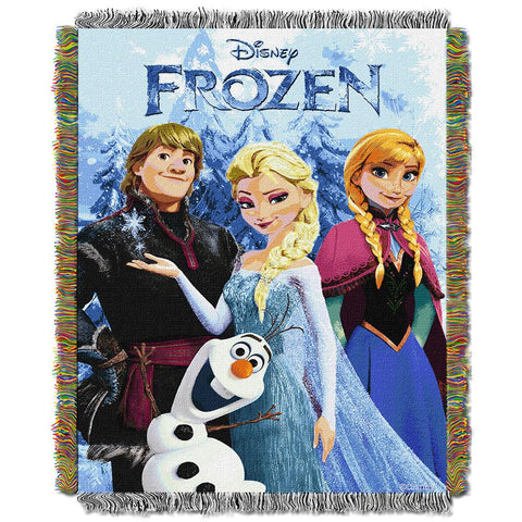 "Disney Frozen- Frozen Fun Triple Woven Jacquard Throw (48""x60"")"