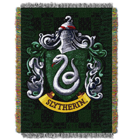 "Harry Potter ""slytherin Shield""  Woven Tapestry Throw (48inx60in)"