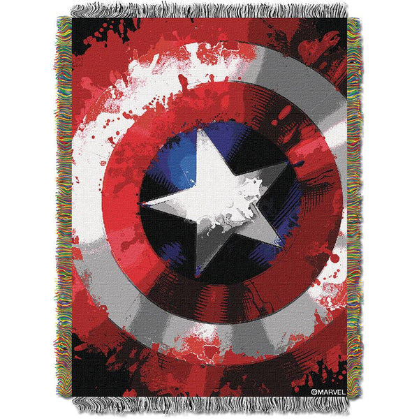 "Marvel Comics Star Shield 051  Woven Tapestry Throw Blanket (48""x60"")"