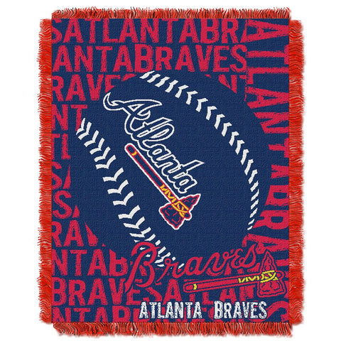 "Atlanta Braves Mlb Triple Woven Jacquard Throw (double Play) (48""x60"")"