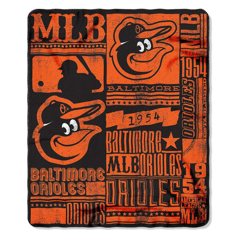 Baltimore Orioles Mlb Light Weight Fleece Blanket (strength Series) (50inx60in)
