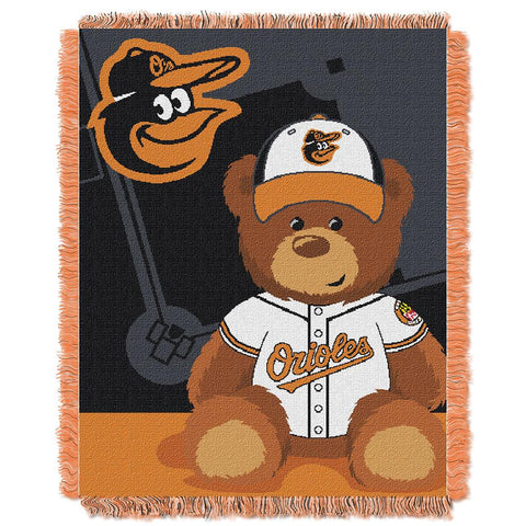 "Baltimore Orioles Mlb Triple Woven Jacquard Throw (field Baby Series) (36""x48"")"