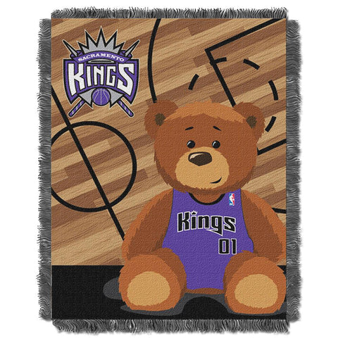 "Sacramento Kings Nba Triple Woven Jacquard Throw (half Court Baby Series) (36""x48"")"