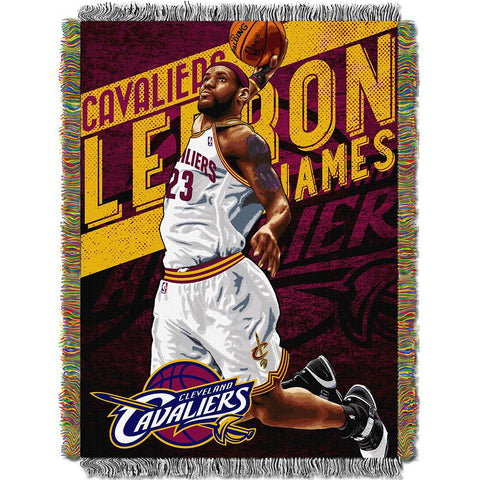 "Cleveland Cavaliers Nba Woven Tapestry Throw Blanket (48""x60"")"