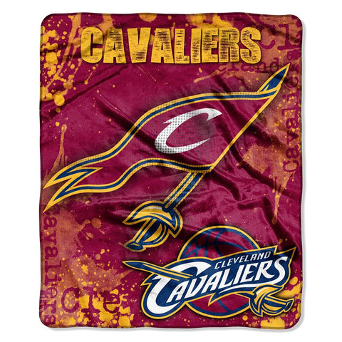 "Cleveland Cavaliers Nba Royal Plush Raschel Blanket (drop Down Series) (50""x60"")"