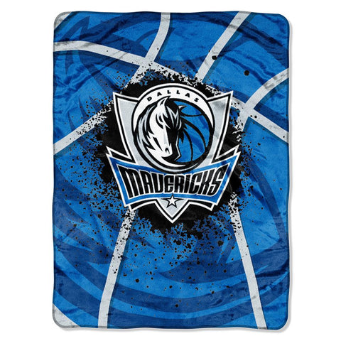 "Dallas Mavericks Nba Royal Plush Raschel Blanket (shadow Series) (60""x80"")"