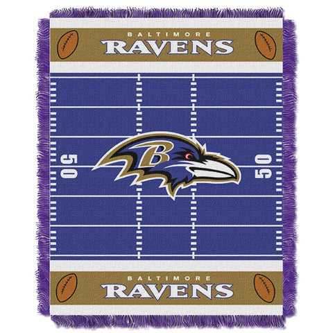 "Baltimore Ravens Nfl Triple Woven Jacquard Throw (field Baby Series) (36""x48"")"