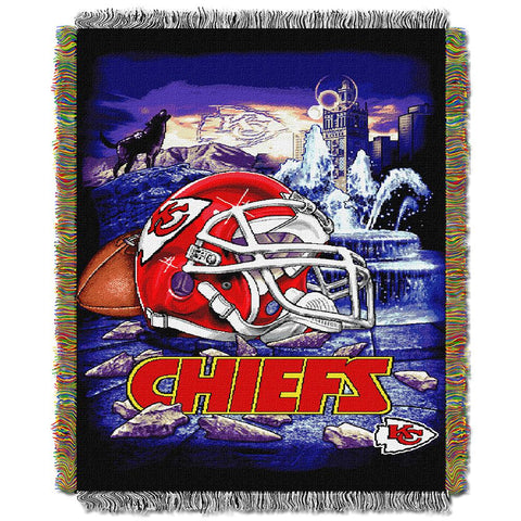 "Kansas City Chiefs Nfl Woven Tapestry Throw (home Field Advantage) (48""x60"")"