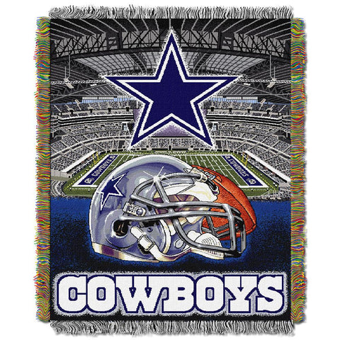 "Dallas Cowboys Nfl Woven Tapestry Throw (home Field Advantage) (48""x60"")"