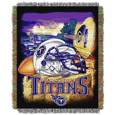 "Tennessee Titans Nfl Woven Tapestry Throw (home Field Advantage) (48""x60"")"