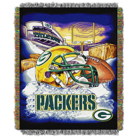 "Green Bay Packers Nfl Woven Tapestry Throw (home Field Advantage) (48""x60"")"