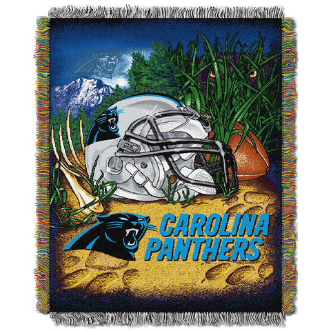 "Carolina Panthers Nfl Woven Tapestry Throw (home Field Advantage) (48""x60"")"