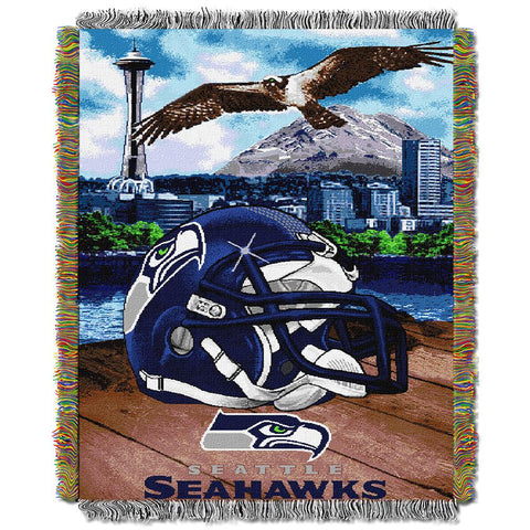 "Seattle Seahawks Nfl Woven Tapestry Throw (home Field Advantage) (48""x60"")"