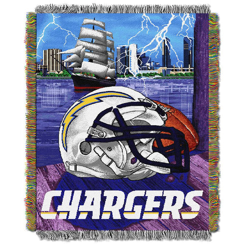 "San Diego Chargers Nfl Woven Tapestry Throw (home Field Advantage) (48""x60"")"