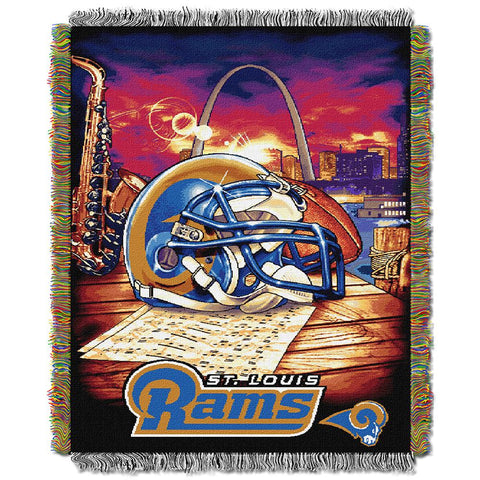 "Saint Louis Rams Nfl Woven Tapestry Throw (home Field Advantage) (48""x60"")"