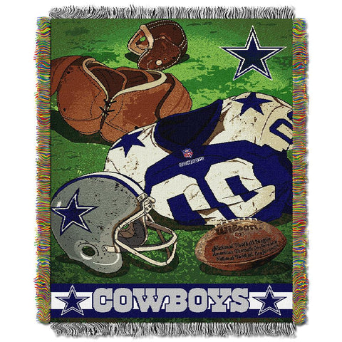"Dallas Cowboys Nfl Woven Tapestry Throw (vintage Series) (48""x60"")"