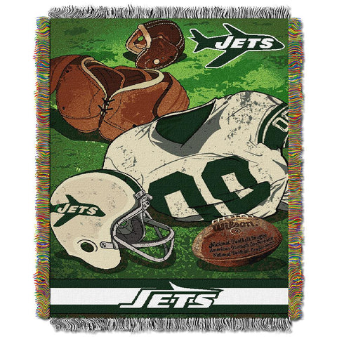"New York Jets Nfl Woven Tapestry Throw (vintage Series) (48""x60"")"