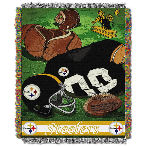 "Pittsburgh Steelers Nfl Woven Tapestry Throw (vintage Series) (48""x60"")"