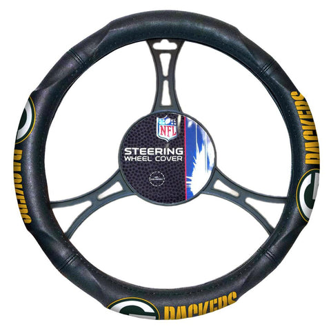 "Green Bay Packers Nfl Steering Wheel Cover (14.5"" To 15.5"")"