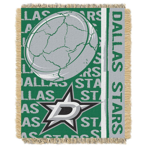 "Dallas Stars Nhl Triple Woven Jacquard Throw (double Play Series) (48""x60"")"