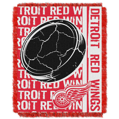 "Detroit Red Wings Nhl Triple Woven Jacquard Throw (double Play Series) (48""x60"")"