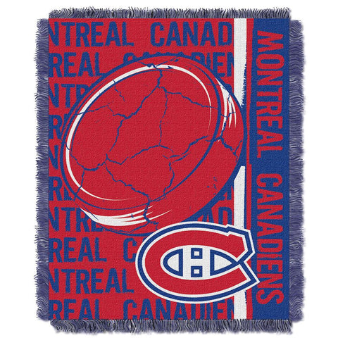 "Montreal Canadiens Nhl Triple Woven Jacquard Throw (double Play Series) (48""x60"")"