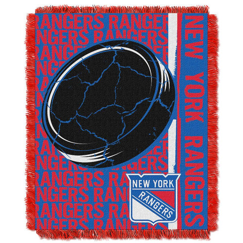 "New York Rangers Nhl Triple Woven Jacquard Throw (double Play Series) (48""x60"")"