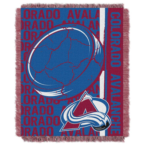 "Colorado Avalanche Nhl Triple Woven Jacquard Throw (double Play Series) (48""x60"")"