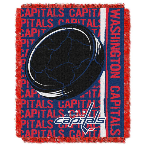 "Washington Capitals Nhl Triple Woven Jacquard Throw (double Play Series) (48""x60"")"