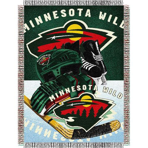 "Minnesota Wild Nhl Woven Tapestry Throw Blanket (48""x60"")"