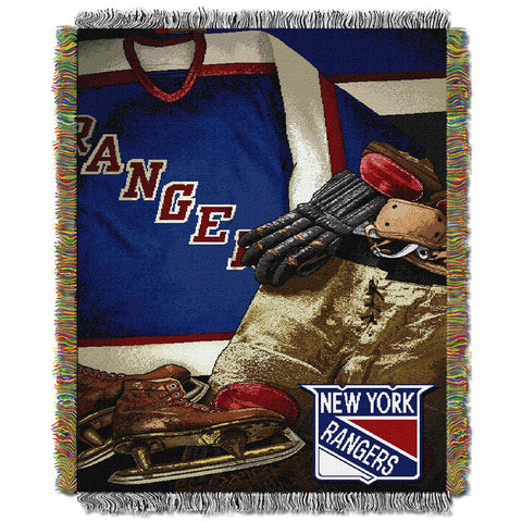 "New York Rangers Nhl Woven Tapestry Throw (vintage Series) (48""x60"")"