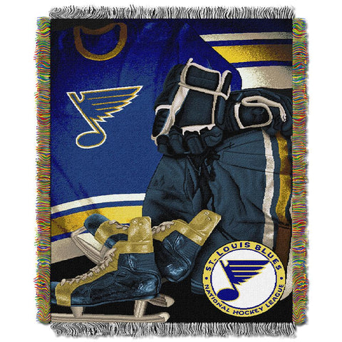 "St. Louis Blues Nhl Woven Tapestry Throw (vintage Series) (48""x60"")"