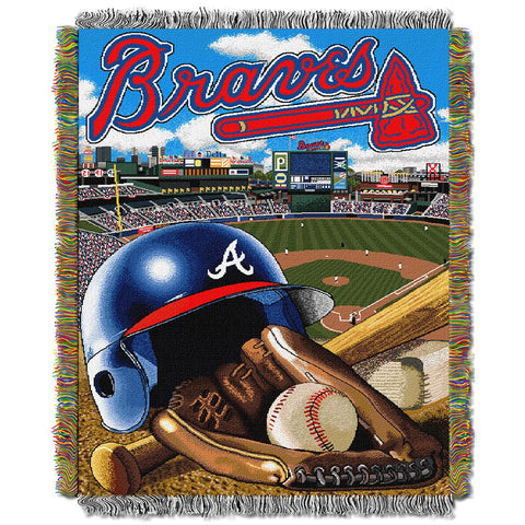 "Atlanta Braves Mlb Woven Tapestry Throw (home Field Advantage) (48""x60"")"