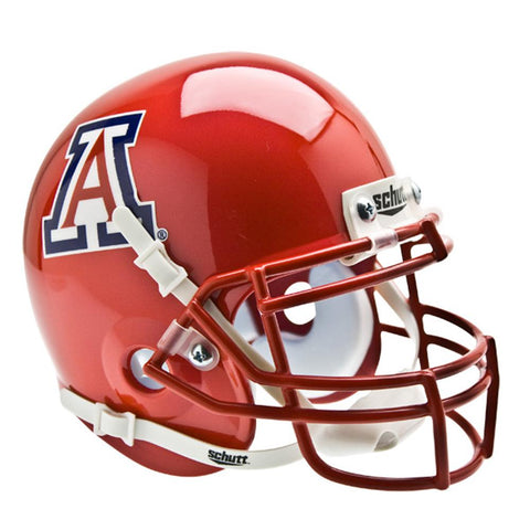 Arizona Wildcats Ncaa Authentic Mini 1-4 Size Helmet (alternate Pearl Scarlet 3)