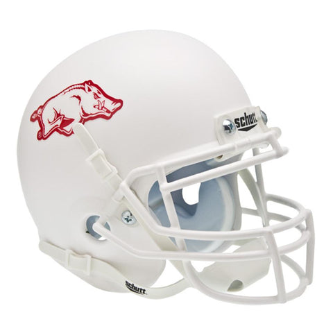 Arkansas Razorbacks Ncaa Authentic Mini 1-4 Size Helmet (alternate White 1)