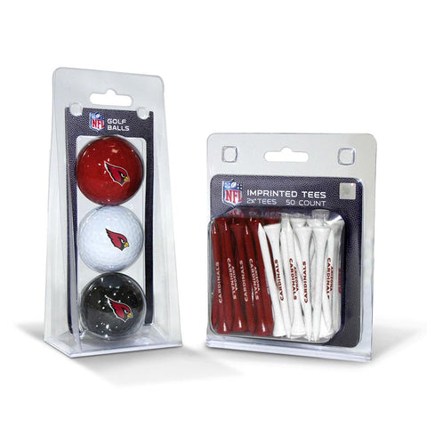 Arizona Cardinals Nfl 3 Ball Pack And 50 Tee Pack