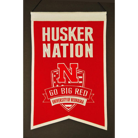 "Nebraska Cornhuskers Ncaa ""nations"" Banner (15""x20"")"