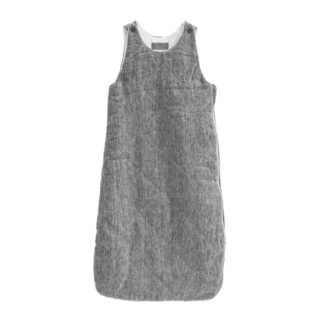 QUILTED LINEN Sleeping bag | Charcoal | year round weight 2.5 TOG