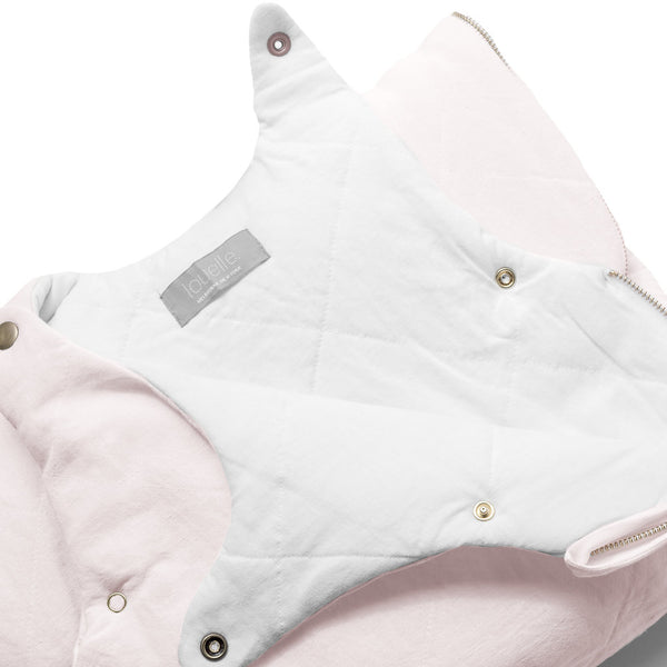 QUILTED LINEN Sleeping bag | Blossom pink | year round weight 2.5 TOG
