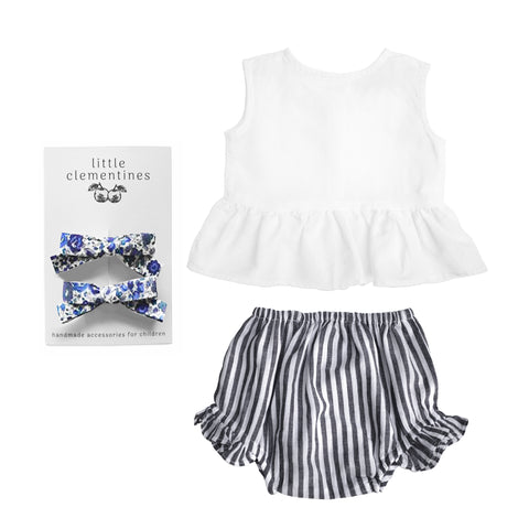 Louelle. x Little Clementines Harbor Island Stripe Liberty Gift Set