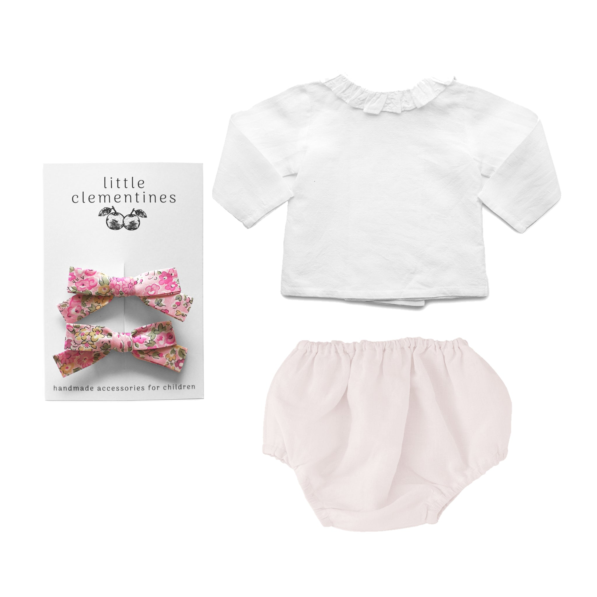 Louelle. x Little Clementines Blossom Pink Liberty Gift Set
