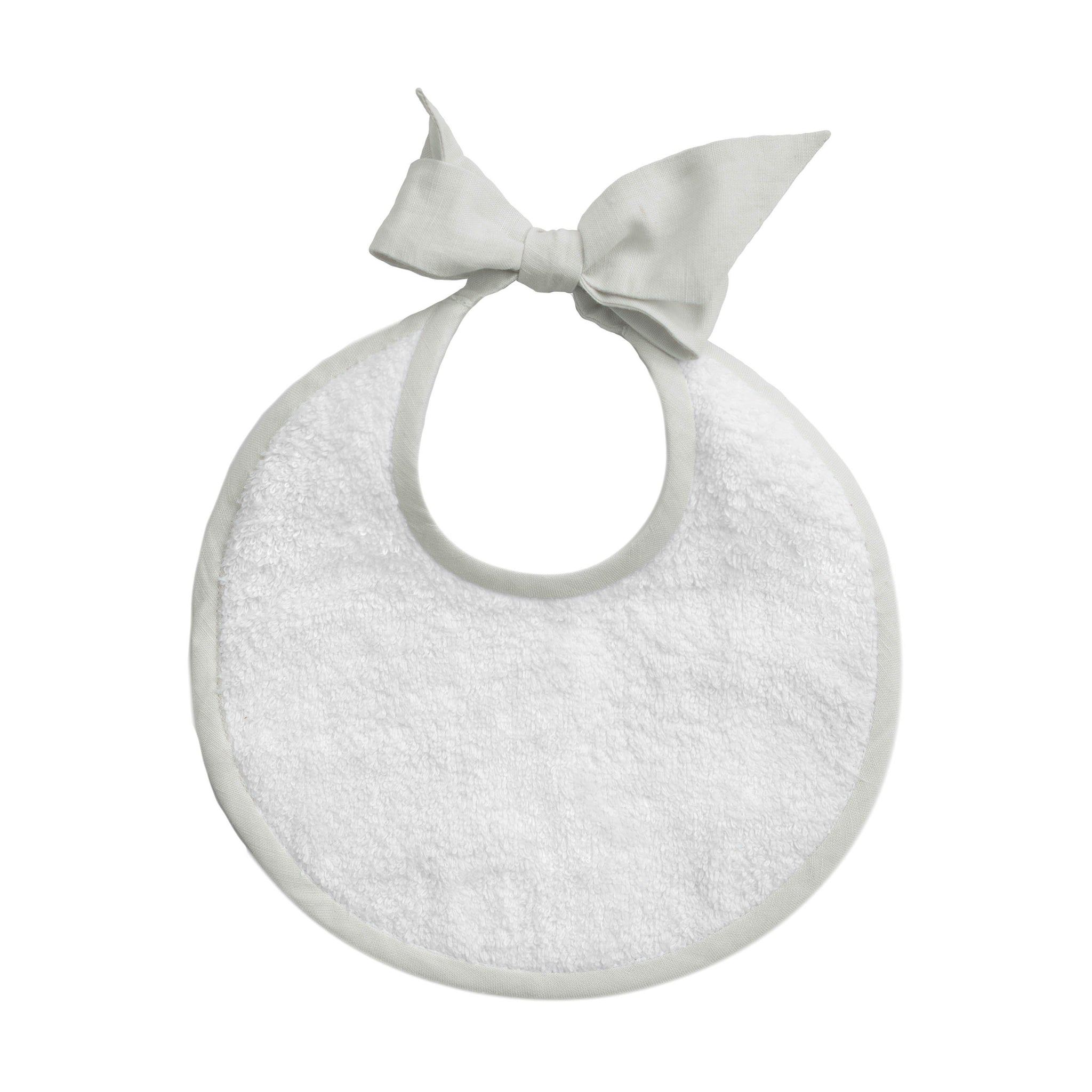 PRE ORDER | Newborn bib | French grey linen