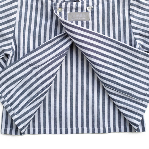 Double button blouse | Harbor Island Stripe
