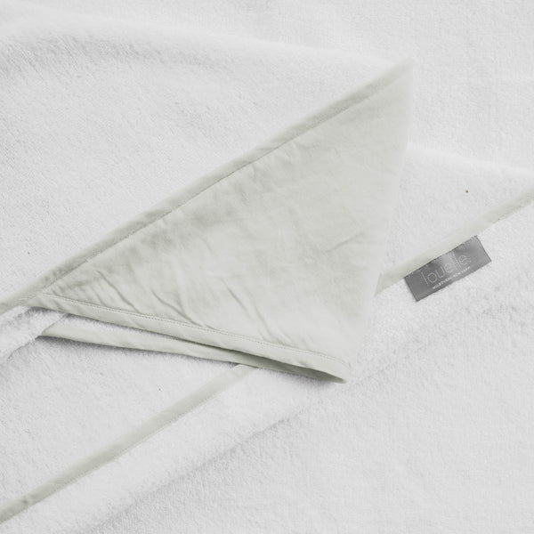 Hooded towel | French grey linen