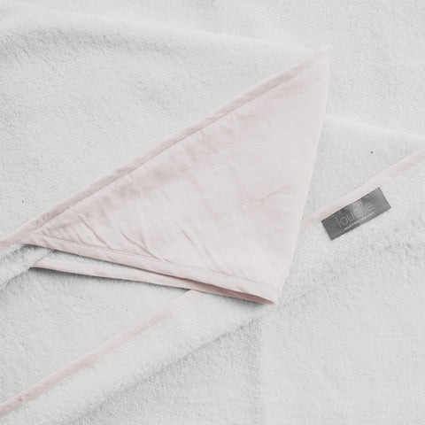 Hooded towel | Blossom pink linen